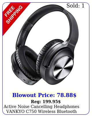active noise cancelling headphones vankyo c wireless bluetooth headphones ea