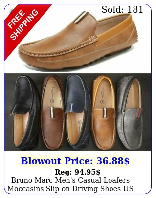 bruno marc men's casual loafers moccasins slip on driving shoes us size