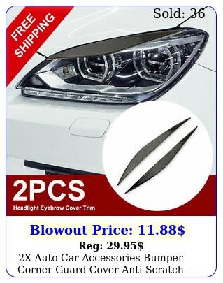 x auto car accessories bumper corner guard cover anti scratch protector sticke