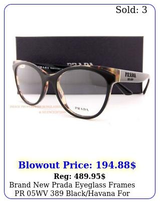 brand prada eyeglass frames pr wv blackhavana women siz