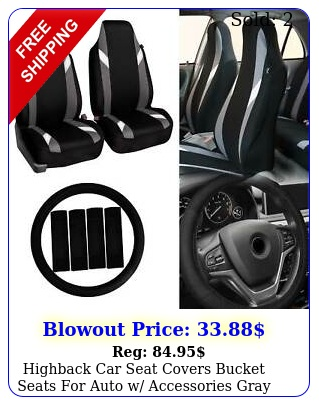 highback car seat covers bucket seats auto w accessories gray blac