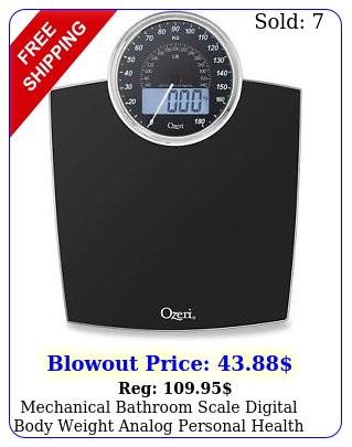 mechanical bathroom scale digital body weight analog personal health lb
