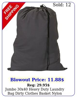 jumbo x heavy duty laundry bag dirty clothes basket nylon drawstring ba