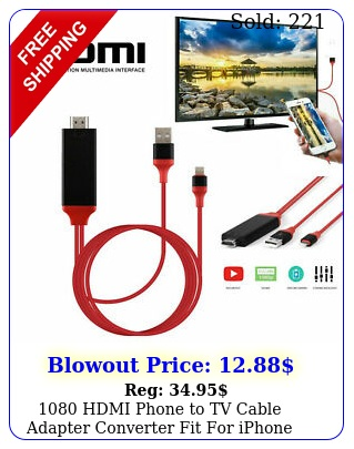 hdmi phone to tv cable adapter converter fit iphone xxs plusipa