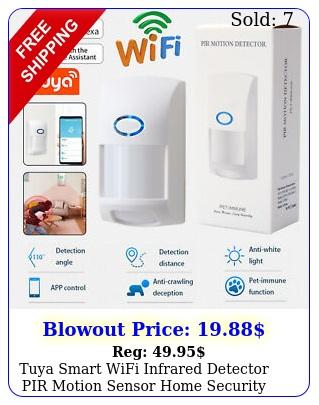 tuya smart wifi infrared detector pir motion sensor home security alexa googl