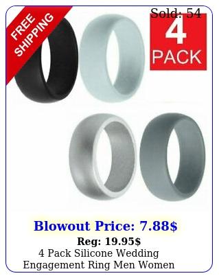 pack silicone wedding engagement ring men women rubber band gym sports ship u