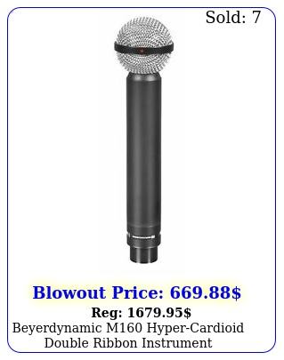 beyerdynamic m hypercardioid double ribbon instrument microphone mi