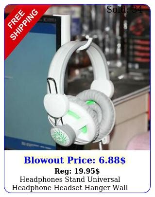 headphones stand universal headphone headset hanger wall hook pc monitor holde