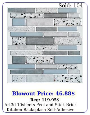 artd sheets peel stick brick kitchen backsplash selfadhesive wall til