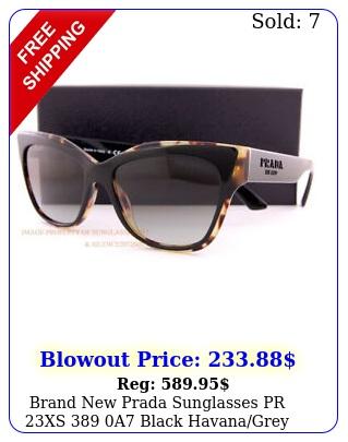 brand prada sunglasses pr xs a black havanagrey gradient wome