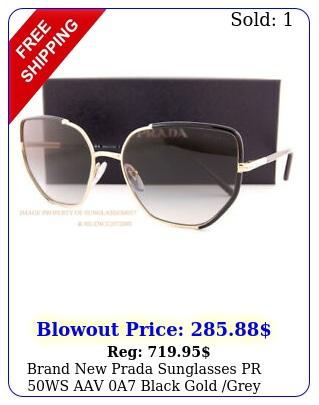 brand prada sunglasses pr ws aav a black gold grey gradient wome