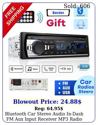 bluetooth car stereo audio indash fm aux input receiver mp radio player tf us