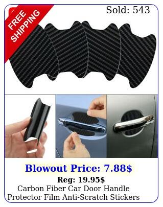 carbon fiber car door handle protector film antiscratch stickers accessories u