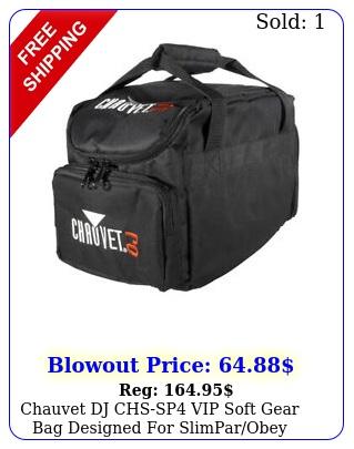 chauvet dj chssp vip soft gear bag designed slimparobey cables chss