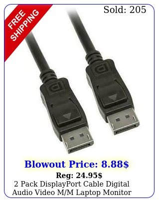 pack displayport cable digital audio video mm laptop monitor computer pc f
