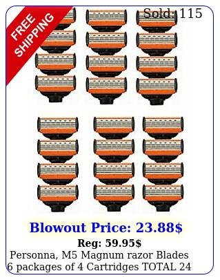 personna m magnum razor blades packages of cartridges tota