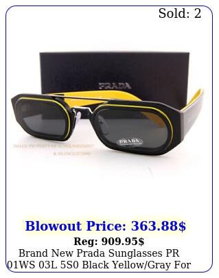 brand prada sunglasses pr ws l s black yellowgray me