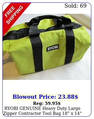 ryobi genuine heavy duty large zipper contractor tool bag x