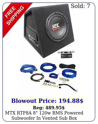 mtx rtpa w rms powered subwoofer in vented sub enclosure wire ki
