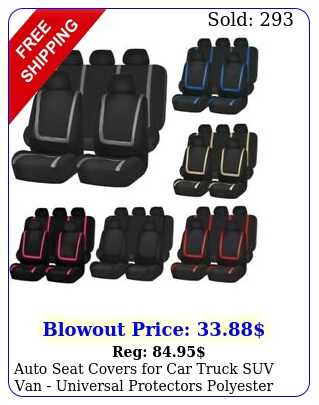 auto seat covers car truck suv van universal protectors polyester colo
