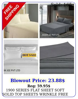 series flat sheet soft solid top sheets wrinkle free  cotton sati