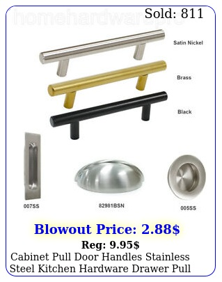 cabinet pull door handles stainless steel kitchen hardware drawer pull kno