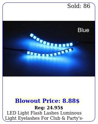 led light flash lashes luminous light eyelashes club party'smany color