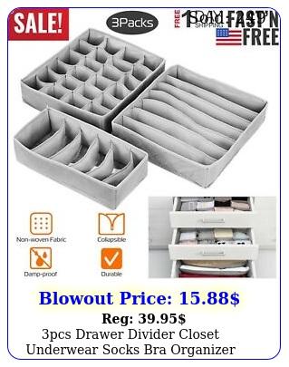 pcs drawer divider closet underwear socks bra organizer container storag