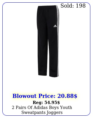 pairs of adidas boys youth sweatpants jogger