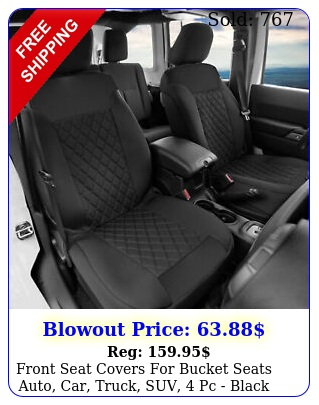 front seat covers bucket seats auto car truck suv pc blac