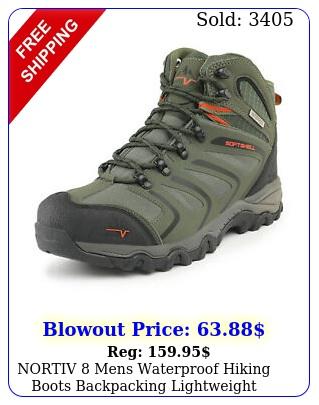 nortiv mens waterproof hiking boots backpacking lightweight outdoor work boot