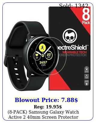 pack samsung galaxy watch active mm screen protector case friendly us