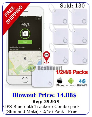 gps bluetooth tracker combo pack slim mate  pack free shippin
