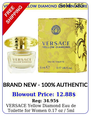 versace yellow diamond eau de toilette women oz ml miniature bottl