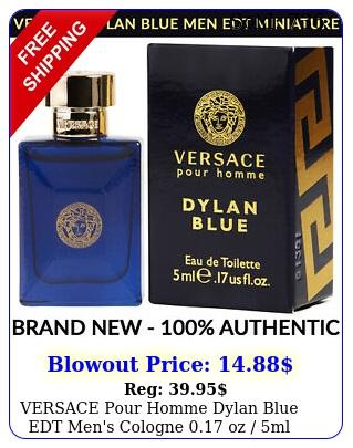 versace pour homme dylan blue edt men's cologne oz ml miniature bottl
