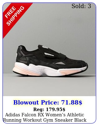 adidas falcon rx womens athletic running workout gym sneaker black tennis sho