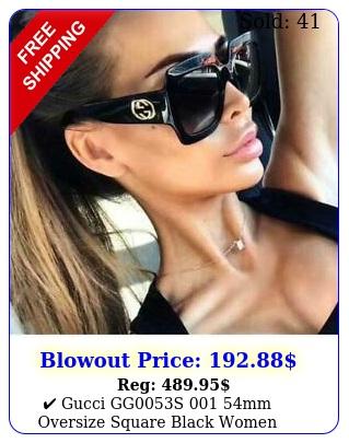 gucci ggs mm oversize square black women sunglasses