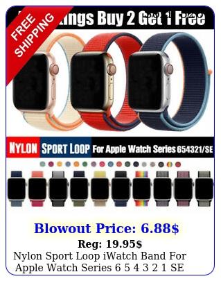 nylon sport loop iwatch band apple watch series    se m