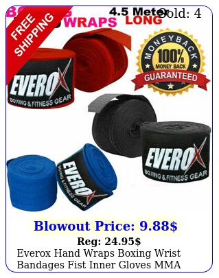 everox hand wraps boxing wrist bandages fist inner gloves mma maxican muay tha