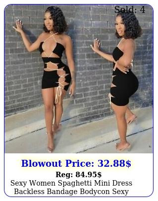 sexy women spaghetti mini dress backless bandage bodycon sexy dresses club part