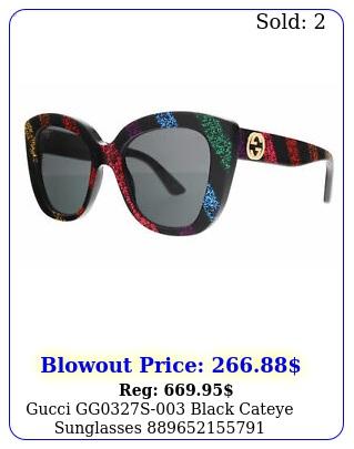 gucci ggs black cateye sunglasse