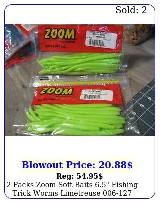 packs zoom soft baits fishing trick worms limetreus
