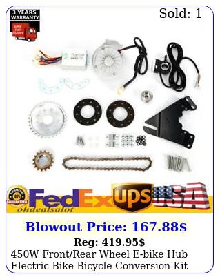 w frontrear wheel ebike hub electric bike bicycle conversion kit