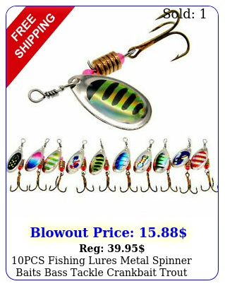 pcs fishing lures metal spinner baits bass tackle crankbait trout spoon trou
