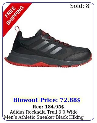 adidas rockadia trail wide mens athletic sneaker black hiking running sho