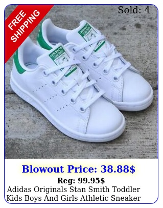 adidas originals stan smith toddler kids boys girls athletic sneaker sho