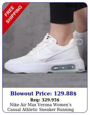 nike air max verona womens casual athletic sneaker running shoe white traine