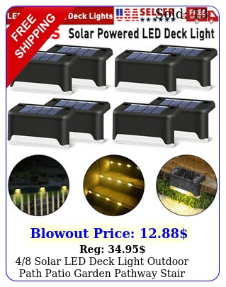 solar led deck light outdoor path patio garden pathway stair step fence lam