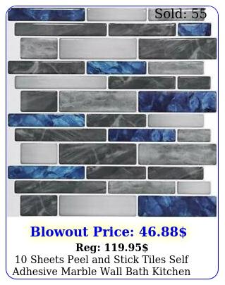 sheets peel stick tiles self adhesive marble wall bath kitchen backsplas
