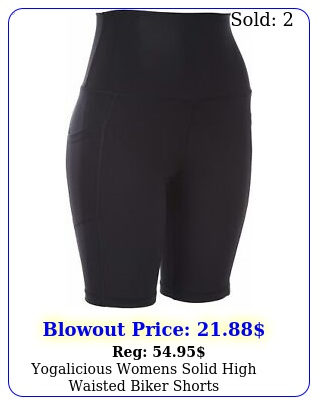 yogalicious womens solid high waisted biker short